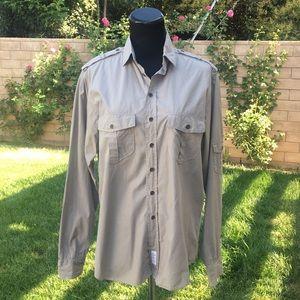Rag & Bone Light Cotton Military Button Down Shirt